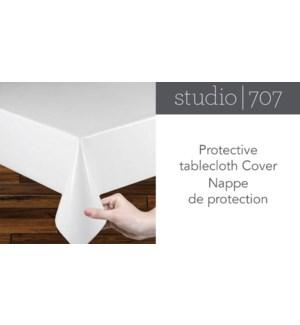 COUVRE-TISSU DE TABLE PROTECTEUR BLANC 60x102 12B