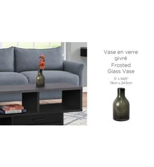Vase En Verre Dk Gris - 13x24.5 - 6B