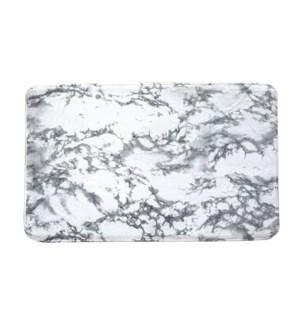 """Marble printed flannel Bath Mat 20x30"""" 12/B"""