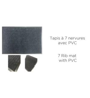 Tapis … 7 nervures avec PVC 45x75-25B noir