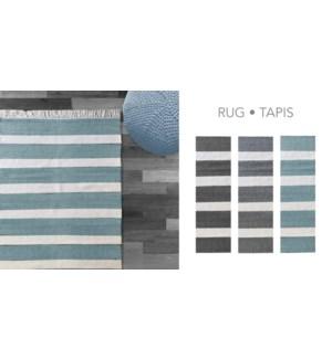 PADDLE COTTON-Blanc/Gris-3 x 5-RUG