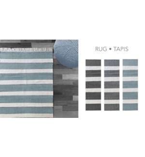 PADDLE COTTON-Blanc/Bleu-4 x 6-RUG