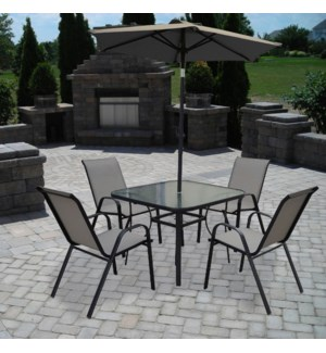 6pcs Patio Set Grey 1b
