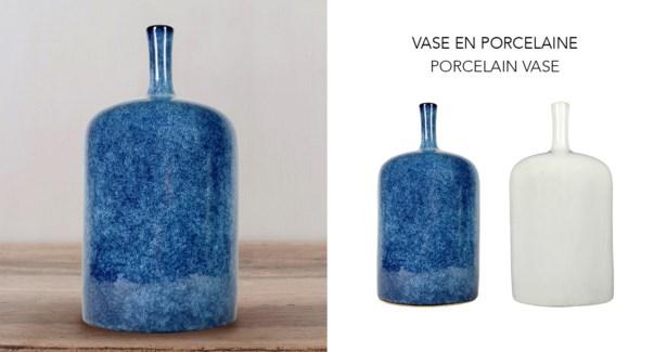 Vase Porcelin Creme12.4x12.4x24.1 - 6B