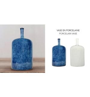 Vase en Porcelaine Bleu - 12.4x12.4x24.1 - 6B