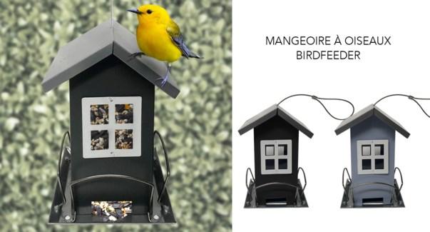 Mangeoire … oiseaux 12x12x19-12B