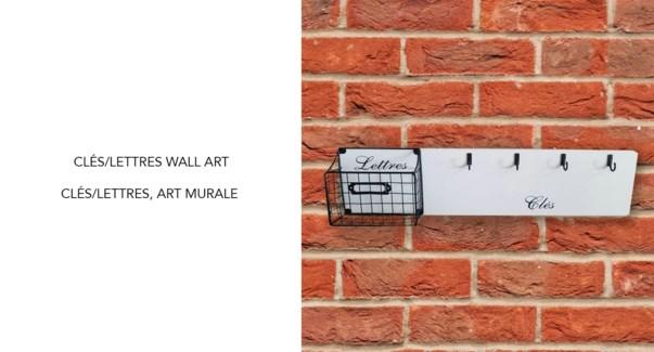 Cles/Lettres Wall Art -48x18-6B