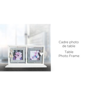 Cadre photo de table 37x19,5x6 - 4x4 '' - 8B