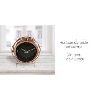 Horloge de table en cuivre 17.7x4.5x21.5 - 8B