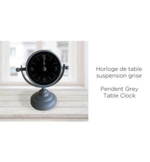 Horloge de table suspension grise 17x10x19 - 8b