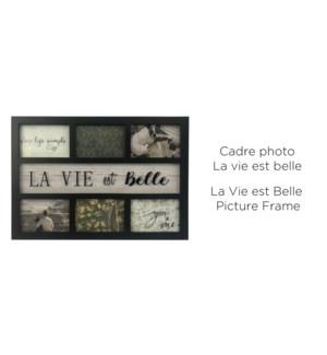 Cadre photo La vie est belle noir - 6 - 47,6x32,7 - 12B
