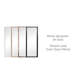 Miroir de porte en bois - NOIR - 30x120 - 10B