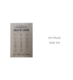 Art mural Salle de Lavage 40x60 - 8B