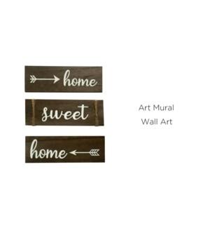Art Mural - 3 PC Home Sweet Home 10x30 - 6B