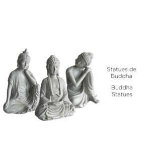 Statues de Bouddha Asst- 7,5x15 - 18B