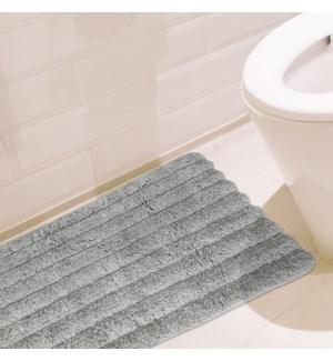 plushed rib bath mat with anti slip  20X30 ASST. 12B