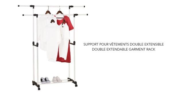 Support de vˆtement double extensible - 8B
