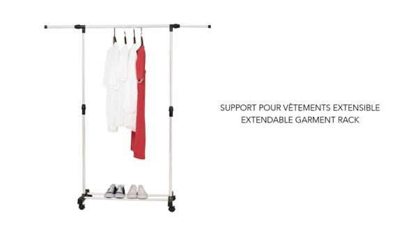Support de vˆtement extensible simple - 8B