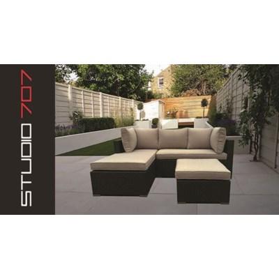 Alu Rattan L Shape brown 1b - outdoor furniture mobilier de jardin ...