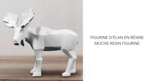 Figurine en r'sine Moose 16.8x6.4x13.2 - 6B