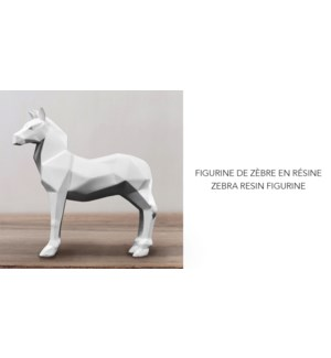 Figurine en r'sine Zebra 17.5x5x17.5 - 6B