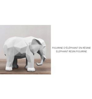 Figurine en r'sine d'Elephent 16.8x6.4x13.2 - 6B
