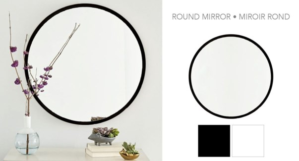 "22"" ROUND MIRROR ASSORTED 6/B"