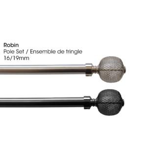 ROBIN ENSEMBLE DE TRINGLE NICKEL BROSSE 16/19MM 48X86
