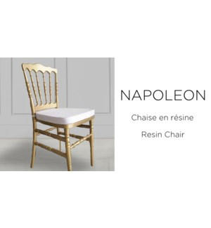PP Resin Napoleon Chair Gold Painted