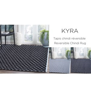 Tapis Kyra Diamant R'versible 27x45 Asst 27x45-12B