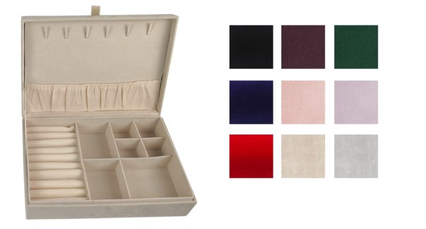 JEWELLERY BOX - ASSORTED COLOURS 12/B