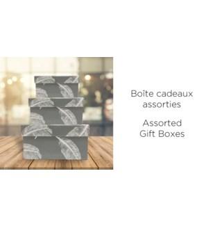 BoŒte-cadeau carr'e-Blanc/Gris-255X255-BOXES 4/ctn