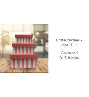 BoŒte-cadeau Rect.-Rose-255X190-BOXES 4/ctn