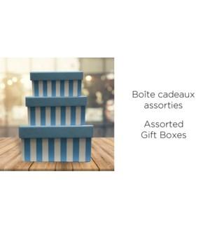 BoŒte-cadeau Rect.-BLEU-255X190-BOXES 4/ctn