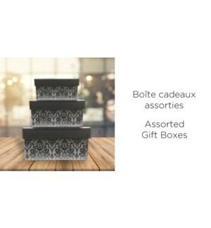 BoŒte-cadeau Rect.-Gris-230X170-BOXES 4/ctn