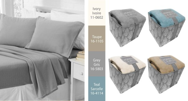 SOLID MICROFLEECE SHEET S IN STORAGE BOX IVY Q