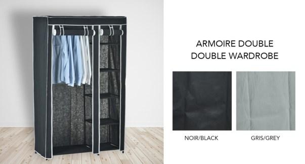 Armoire double - Ass. 105x43x172-6B