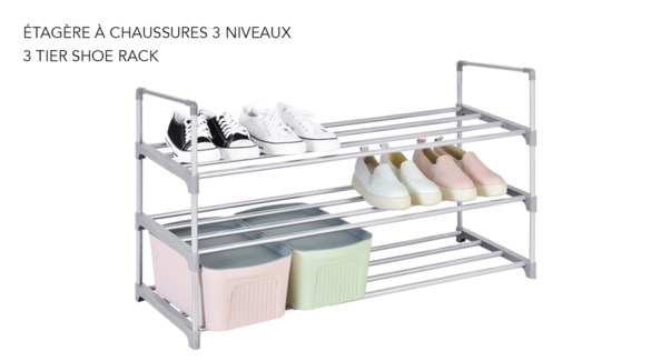 Range-chaussures … 3 niveaux -12B