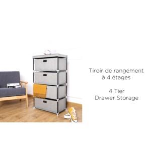 4 Tier Storage Drawer 55x30x100-6B