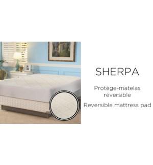 SHERPA REVERSIBLE MATTRESS pad Q