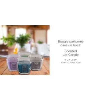 Bougie parfum'e dans un bocal 7.7x7.7x7.2 - 12B