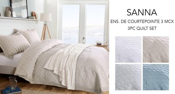 SANNA WAVE ENS. DE 3MCX COURTEPOINTE LIN TRES GRAND 2B