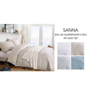 SANNA WAVE ENS. DE 3MCX COURTEPOINTE BLANC D/G 2B