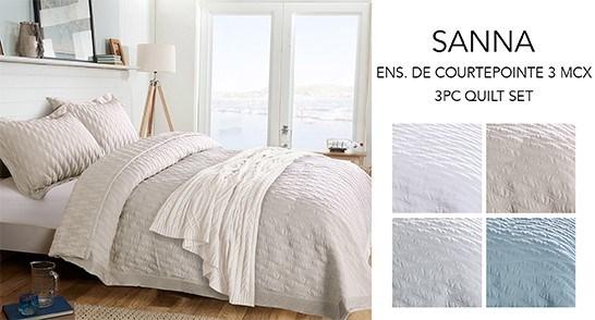 SANNA WAVE ENS. DE 3MCX COURTEPOINTE ARDOISE D/G 2B
