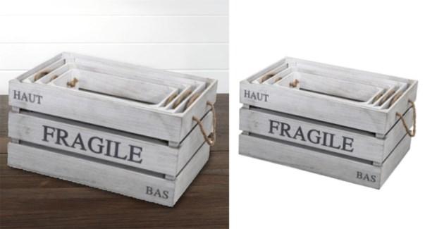 Wood Storage Box 42x25x24cm Small