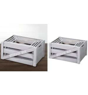 Wood Storage Box 36x19x22cm XSmall