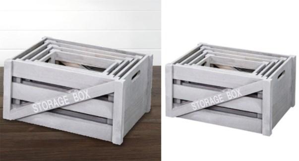 Wood Storage Box 48x31x26cm medium