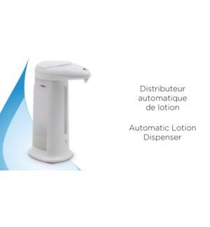 Distributeur de lotion automatique 12.5 x 8.3 x 20 cm, 333ML