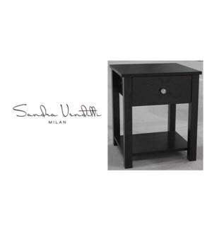 TABLE D'APPOINT AVEC 1 TIROIR ESPRESSO 42x40 1B
