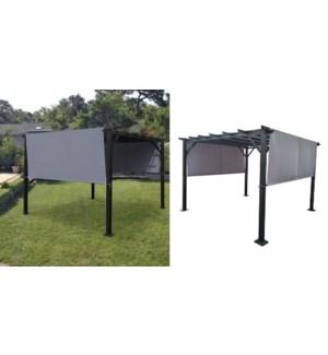 Alll&steel two-side blind pergola grey 1b